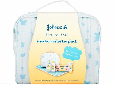 Johnson's Baby Top To Toe Newborn Starter Gift Pack Changing Mat Wipes & More