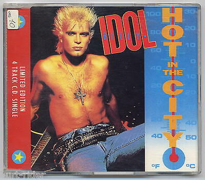 BILLY IDOL Hot In The City - 4 tracks CD come nuovo-excellent