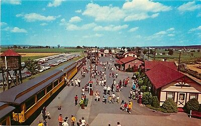 East Strassburg mall Railroad Pennsylvania PA Route 741 Postcard