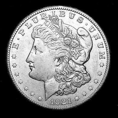 1921 S ~**ABOUT UNCIRCULATED AU**~ Silver Morgan Dollar Rare US Old Coin! #R41