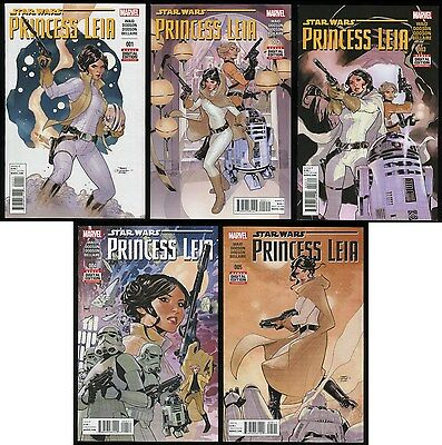 Star Wars Princess Leia Marvel Comic Set 1-2-3-4-5 Lot Death Star Han Solo R2-D2