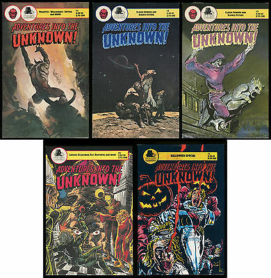 Adventures into the Unknown Comic set 1-2-3-4 Lot & Halloween Special Frazetta