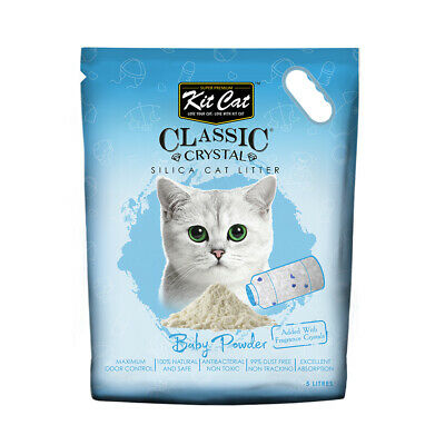 Kit Cat Litter Crystals - Classic Silica Baby Powder Scent - 5 litres / 2.4kg