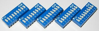 5 X 9 Position DIP Switch - ECE - SPST - Fit 18 Pin Socket - Gold Plated Contact