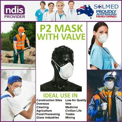 P2 N95 Respirator Moulded Mask With Valve Meets As/nzs 1716 Standards