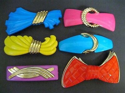Vtg New Large Choose Your Color French Clip Hair Barrette 70's 80's Retro Nos B1