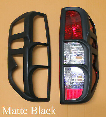 Matte Black Tail Rear Light Lamp Covers For Nissan Navara D40 2005-2014 Outlaw