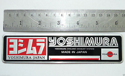 Aluminium Exhaust Plate Badge Japan Sticker For HONDA YOSHIMURA SUZUKI YAMAHA