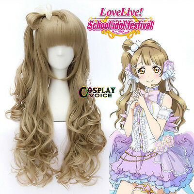 Love Live!Minami Kotori Flaxen 70cm Long Curly Girls Anime Cosplay Wig(WIG ONLY)