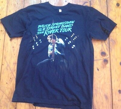 Bruce Springsteen And The E Street Band 'The River Tour' Mens XL Black #1