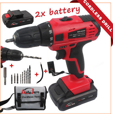 Power Tool - Cordless Drill 18V 20V MAX Drill Set Electric Rechargeable Battery
