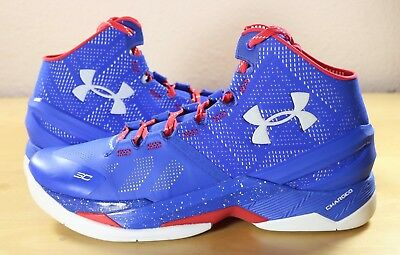 85ec05e0 Under Armour Curry 2 II USA Providence Road Royal Red Stephen 1259007-401  sz 11