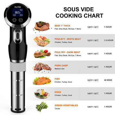 Mliter Sous Vide Precision Cooker 1500W Immersion Circulator Digital LCD Neu