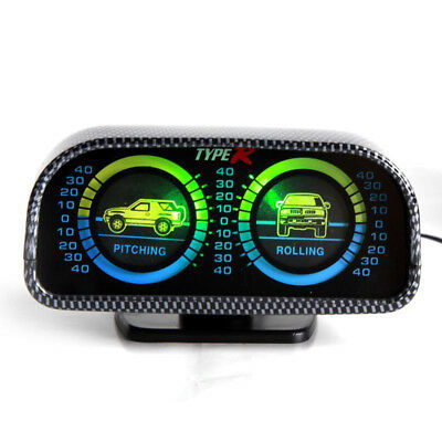 Off Road Car Balance Level Gauges Inclinometer Compass Inclination Measures AU