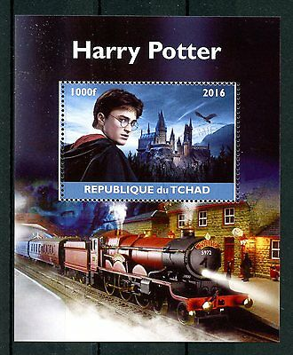 Chad 2016 CTO Harry Potter Hogwart Express 1v M/S Trains Castles Stamps