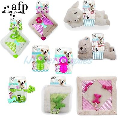 AFP All for Paws Little Buddy Puppy Dog toys - crinkle squeak chew soothe warm