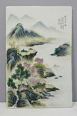 Chinese  Famille  Rose  Porcelain  Plaque      M2177