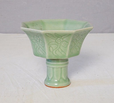 Chinese  Monochrome  Green  Glaze  Porcelain  Cup       M2163
