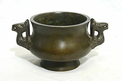 Chinese  Bronze  Incense  Burner  With  Mark  9