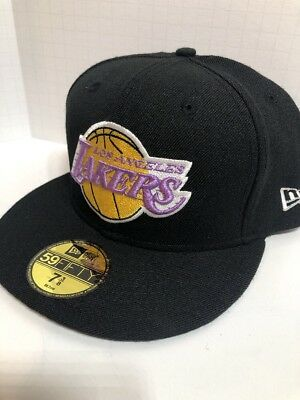 brand new 7d8da 63f1c NEW ERA SALE! Los Angeles Lakers HWC 59FIFTY Fitted 7 3 8 NBA Hat