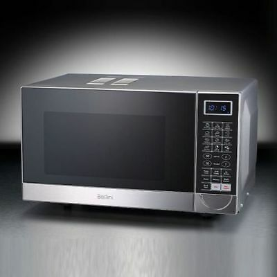 New Bellini Compact Flatbed Microwave Oven Stainless Steel 900W 25L Kitchen Home