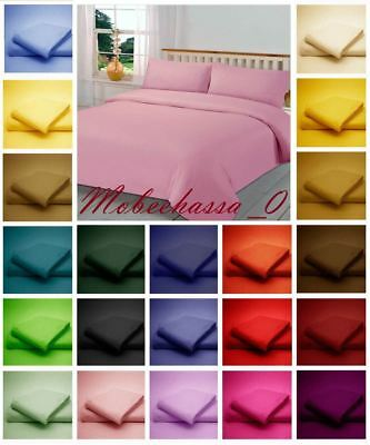 NON IRON Polycotton Duvet Cover with Pillowcase OR Fitted Sheet OR Flat Sheet.