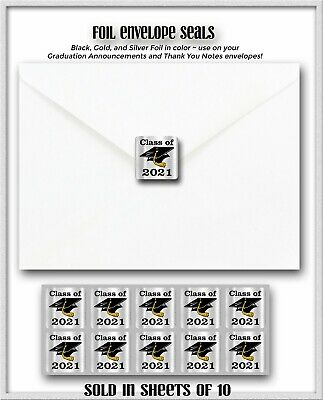 10 - Class of 2019 Graduation Envelope Sticker Seals for your Grad Announcements