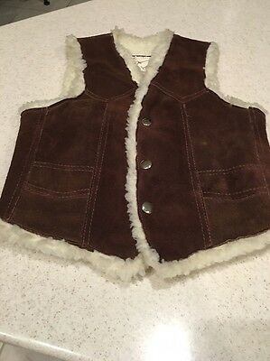 Arizona Brand Vintage Child's Suede Sherpa Gen. & Leather Suede Shearling Vest