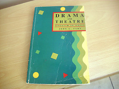 DRAMA AND THEATRE english in units by John G Fahy, 1992 textbook Ireland