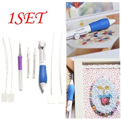 1SET Craft Tools 3 Size Stitching Punching Punch Needle Embroidery Pen