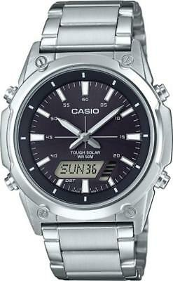 NEWEST Casio Tough Solar AMWs820D-1A Men's Watch Digital Analog Stainless Steel