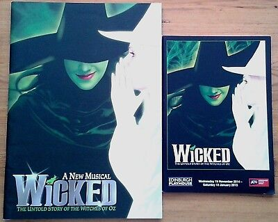 Individual Wicked The Musical programmes & standby slips Ldn & UK tour programme