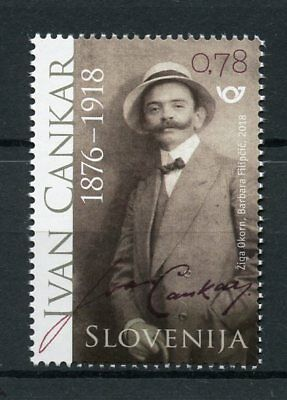 Slovenia 2018 MNH Ivan Cankar 1v Set Writers Authors Literature Stamps