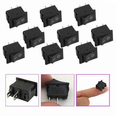 10pcs Dashboard 3A/250V Toggle Button 2PIN ON/OFF G130 SPST Boat Rocker Switch