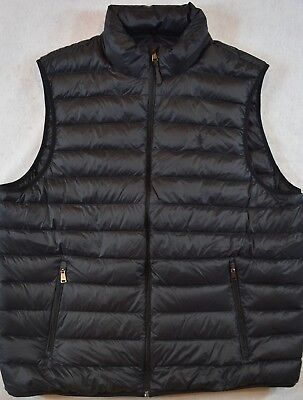 Polo Ralph Lauren Puffer Outerwear Packable Down Vest Black S Small NWT