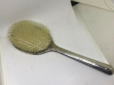 Antique STERLING SILVER  Brush with Hand Etching