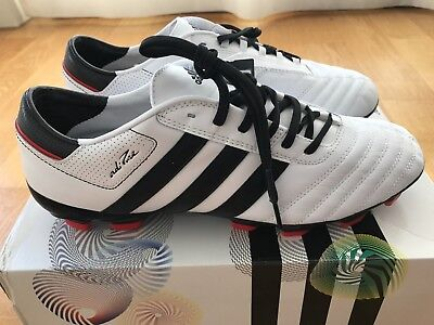 official photos 07d2a 54ea7 Adidas adiPURE III TRX FG Leather Black White Poppy EU44 UK9.5 US10