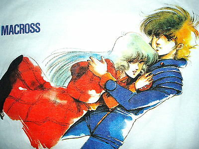 Macross Robotech Ric & Minmay White Valkyrie  T Shirt  Size Large