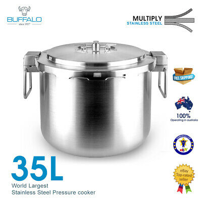 Buffalo Commercial Stainless Steel Pressure Cooker 30 Litre (PC30)