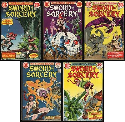 Sword of Sorcery Comic Set 1-2-3-4-5 Lot Fritz Leiber's Fafhrd & the Gray Mouser