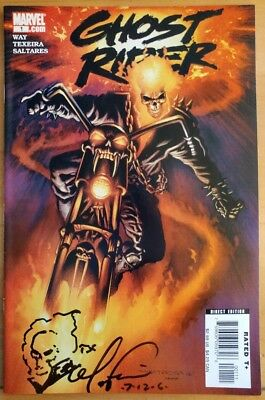 GHOST RIDER #1 Signed TEX (2006 MARVEL Comics) ~ VF/NM Book