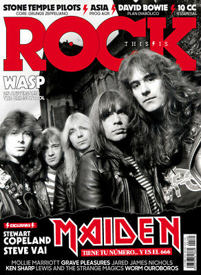 This is Rock Magazine Spain Issue 160 October 2017 Iron Maiden David Bowie ASIA