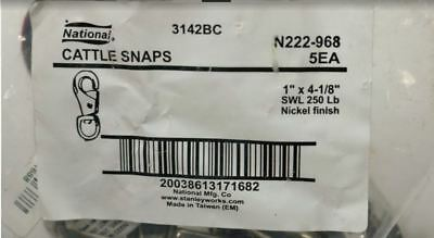 Pack of 5 National N222-968 1 x 4-1/8 Nickle Cattle Snap ?