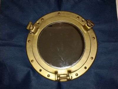 Copper Brass Porthole Mirror Nautical Ship Cabin