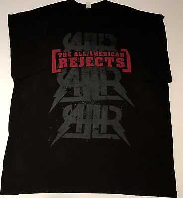 The All American Rejects Battle of the Bands 2009 Concert T-Shirt Sz Large Black