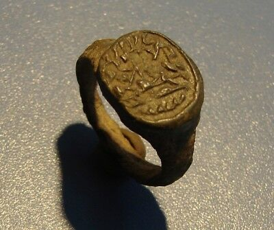 Ancient Bronze ring PRINTING, STAMP.  Middle Ages. RARE. Original.