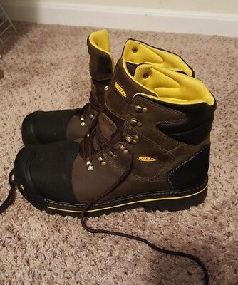Keens milwaukee work boot size 15ee steel toe brown