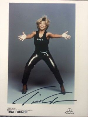 Tina Turner Hand Signed Autograph Autogramm With Lifetime Guarantee + Garantie