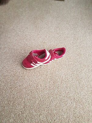 girls adidas pink gazelle trainers size 7