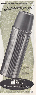 1950 Thermos: Theres No Coffee Like Home Coffee Vintage Print Ad